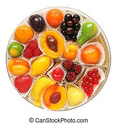 Fruit jelly in box