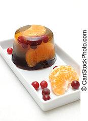 jelly with mandarin orange - Fruit jelly with mandarin...