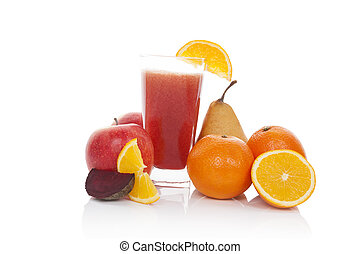Fruit juice.