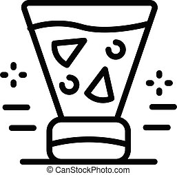 Fruit juice in a blender icon, outline style