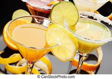 Fruit juice in cocktail glass - Fruit juice served in fancy...