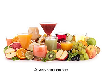 fruit juice isolated