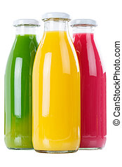 Fruit juice smoothie smoothies in bottle portrait format ...