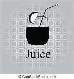 Fruit juice symbols - vector illustration