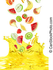 fruit juice - The fruit falls in own juice