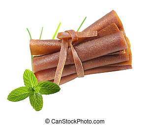 Fruit Leather - Fruit leather rolls homemade by apple sauce...