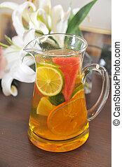 Fruit lemon tea