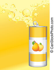 fruit, limonade, bidon ouvert