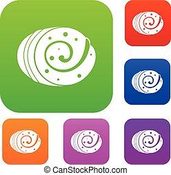 Fruit loaf set color collection