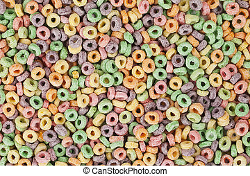 Fruit Loops cereals in a background image