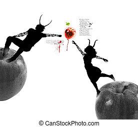 fruit, manger, interdit