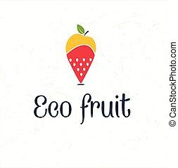 fruit map pin icon -eco fruit