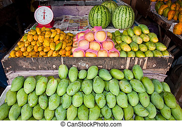 Fruit Market - A fruit stand at a Philippine market.