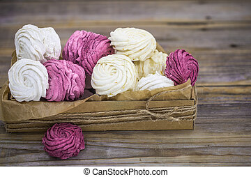 Fruit marshmallows handmade in gift box