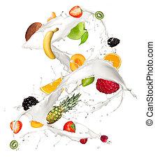 fruit, melk
