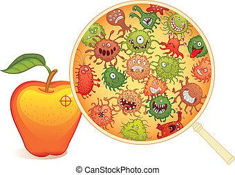 fruit, microscope, sale, sous