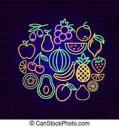Fruit Neon Concept