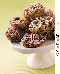 Fruit Nut and Chocolate Flapjack Cakes