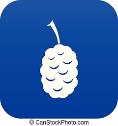 Fruit of mulberry icon digital blue for any design isolated...