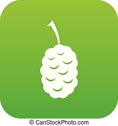 Fruit of mulberry icon digital green for any design isolated...