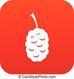 Fruit of mulberry icon digital red for any design isolated...