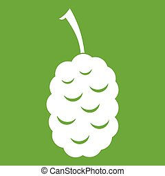 Fruit of mulberry icon green - Fruit of mulberry icon white...
