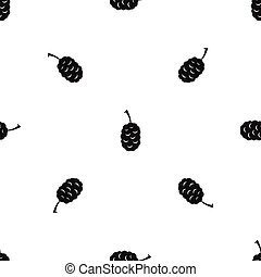Fruit of mulberry pattern seamless black - Fruit of mulberry...