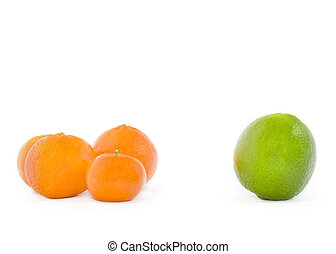 Fruit on a white background.