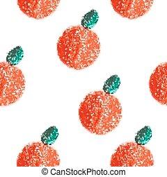 Fruit orange seamless pattern