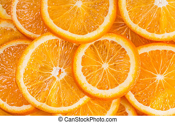fruit, oranges., fond