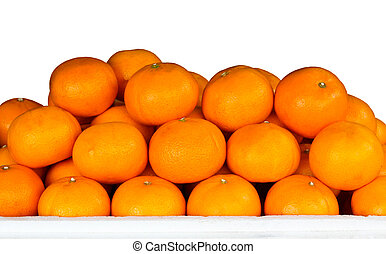 Fruit oranges in a market stall.