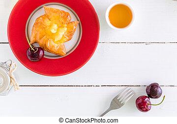 Fruit Pastry Background / Fruit Pastry / Fruit Pastry for Tea Break Background