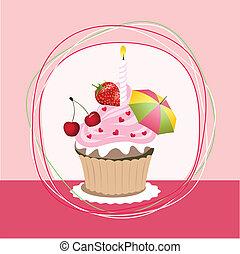 fruit, petit gâteau