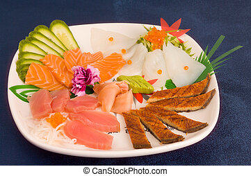 fruit platter and onion on the table