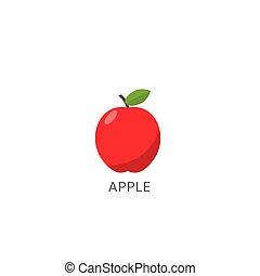 fruit, pomme, rouges