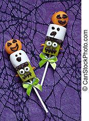 Fruit pops for Halloween
