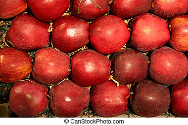 Fruit - Red Apple - red apple in the middle of many red ...