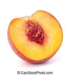 fruit, rijp, perzik