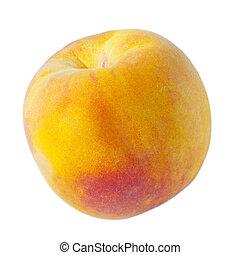 fruit, rijp, perzik, vrijstaand