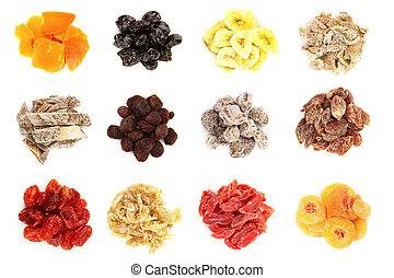 fruit, séché, collection