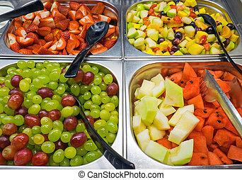 Fruit salad at a buffet