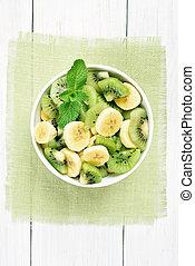 Fruit salad from kiwi and banana