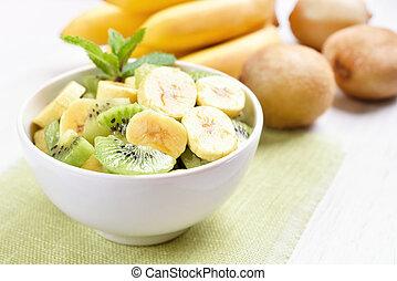 Fruit salad with kiwi and banana