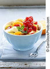 fruit salad with orange