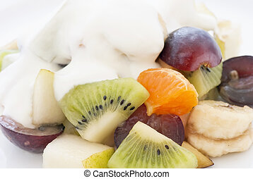 Fruit Salad with Yoghurt