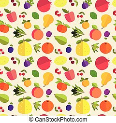 fruit seamless pattern - Seamless pattern of placer fruits...