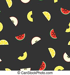 Fruit seamless pattern - vector background.