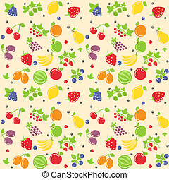 fruit, seamless, textuur
