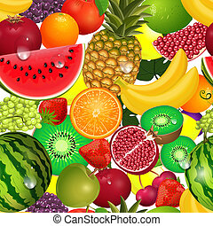 fruit, seamless, textuur, sappig