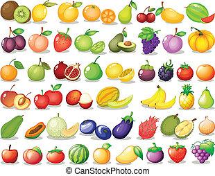 Fruit set - Illustration of a set of fruit